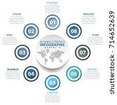 8 options business infographics ... | Shutterstock .eps vector #714652639
