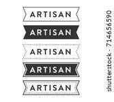 artisan hipster ribbon banner... | Shutterstock .eps vector #714656590