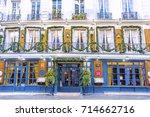 paris  france   december 11 ...   Shutterstock . vector #714662716