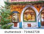 rothenburg ob der tauber ... | Shutterstock . vector #714662728