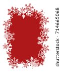 christmas background with frame ...   Shutterstock .eps vector #714665068