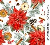 Christmas Watercolor Seamless...