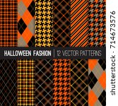 halloween fashion patterns in... | Shutterstock .eps vector #714673576