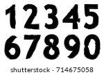 set of grunge numbers.vector... | Shutterstock .eps vector #714675058
