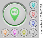 free wifi hotspot color icons... | Shutterstock .eps vector #714679054