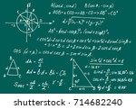 retro education and scientific... | Shutterstock .eps vector #714682240