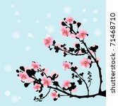 branch of cherry flowers | Shutterstock .eps vector #71468710