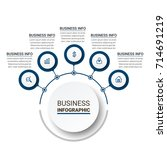 modern infographics paper... | Shutterstock .eps vector #714691219
