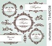 set of floral frame and vintage ... | Shutterstock .eps vector #71469238