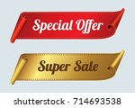 super sale and special offer... | Shutterstock .eps vector #714693538