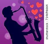 saxophonist musician. vector...