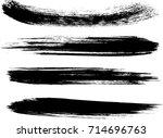 set of grunge brush strokes   Shutterstock .eps vector #714696763
