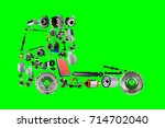 images truck assembled from new ...   Shutterstock . vector #714702040