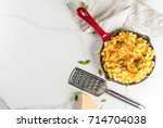 mac and cheese  american style... | Shutterstock . vector #714704038