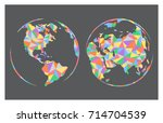 vector abstract world map... | Shutterstock .eps vector #714704539