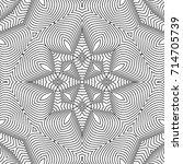 seamless guilloche vector... | Shutterstock .eps vector #714705739