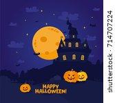 halloween night background....   Shutterstock .eps vector #714707224