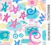 creative seamless pattern.... | Shutterstock .eps vector #714709888