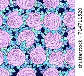 floral decorative bright... | Shutterstock .eps vector #714711520