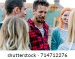smiling man   Shutterstock . vector #714712276