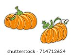 set of vector cartoon element... | Shutterstock .eps vector #714712624