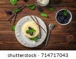 composition with vanilla...   Shutterstock . vector #714717043