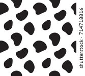 cow seamless pattern. black and ... | Shutterstock .eps vector #714718816