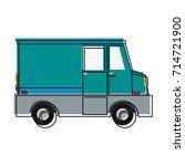 cargo truck vehicle | Shutterstock .eps vector #714721900
