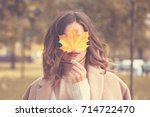 Beautiful Autumn Woman With...