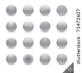round silver buttons in various ... | Shutterstock .eps vector #71472607