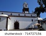 Small photo of church Matritz de Sao Sebastiao (Ponta Delgada/azores) with altar, golden schmuck, wonderful decoration and religious symbols