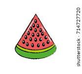 delicious slice watermelon...   Shutterstock .eps vector #714727720