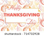 thanksgiving typography.hand... | Shutterstock .eps vector #714732928