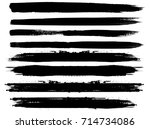 grunge paint stripe . vector... | Shutterstock .eps vector #714734086