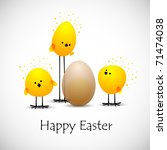Easter Chicks  Eps10