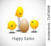 Easter Chicks  Eps10