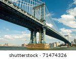 manhattan bridge in new york...   Shutterstock . vector #71474326