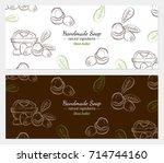 hand drawn vector illustration... | Shutterstock .eps vector #714744160