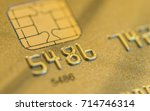 close up of a credit card with... | Shutterstock . vector #714746314
