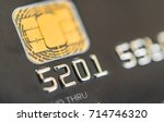 close up of a credit card with... | Shutterstock . vector #714746320