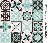 seamless pattern of tiles.... | Shutterstock .eps vector #714748060