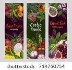 three vertical banners with... | Shutterstock .eps vector #714750754
