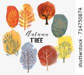 Autumn Tree Set.vector Tree...