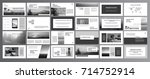 original presentation templates ... | Shutterstock .eps vector #714752914