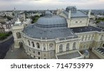 aerial view of odessa opera and ... | Shutterstock . vector #714753979