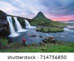 stunning icelandic landscape....   Shutterstock . vector #714756850