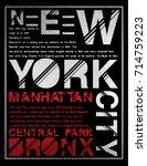 newyork typography graphic... | Shutterstock .eps vector #714759223