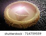 symbol ethereum from golden... | Shutterstock . vector #714759559