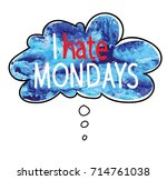 i hate mondays. poster ... | Shutterstock .eps vector #714761038