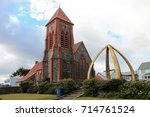 christ church cathedral in port ... | Shutterstock . vector #714761524